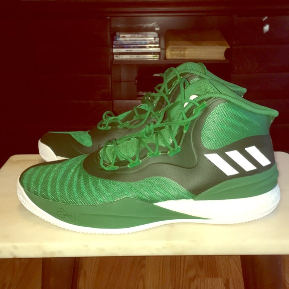 383d21cf7 New Adidas D Rose 8 Green White Basketball Shoes